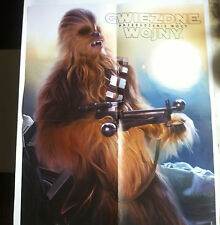 ►► BIG Polish double sided poster Star Wars The Force Awakens Chewbacca
