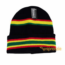 Rasta Beanie Plain Knit Ski Hat Skull Cap Cuff Warm Winter Blank Unisex New