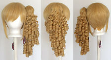 18'' Ringlet Curly Pony Tail + Base Butterscotch Blonde Cosplay Lolita Wig NEW