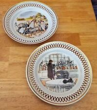 "BING & GRONDAHL SET OF 2 PLATES 7"". THE CARL LARSSON PLATE COLLECTION:DENMARK"