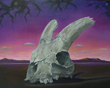 aceo Surreal Signed GERLEVE Goat Skull Metaphysical Atmosphere Trading Card