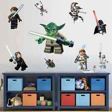 LEGO Star Wars 3D Decal WALL STICKER Vinyl Mural Kids Room Decor UK