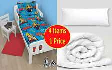 FIREMAN SAM 4-IN-1 JUNIOR COT BED BUNDLE BEDDING SET QUILT & PILLOW BOYS TODDLER