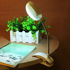 Flexible Clip-on Table Lamp LED Clamp Reading Study Bed Laptop Desk Bright Light