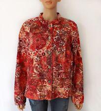 Plus Size Jacket, Brushed Floral Denim Style Plus Size Women's Coat, Sz XL