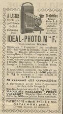 W8053 Macchine Fotografiche IDEAL-PHOTO  - Pubblicità 1926 - Advertising
