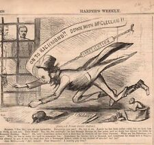 1862 Harpers Weekly Print - McClellen thinks that Greeley is Crazy
