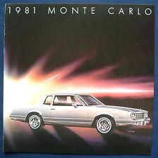 Prospekt brochure 1981 Chevrolet Chevy Monte Carlo (USA)