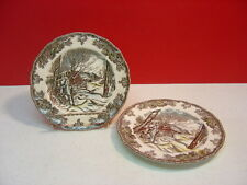 Johnson Brothers China THE FRIENDLY VILLAGE England 1883 Two Bread Plates