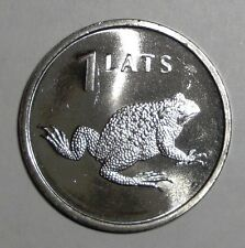 2010 Latvia 1 lats, Toad, Frog, animal wildlife coin