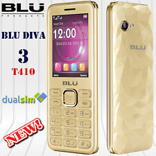 BLU Diva 3 T410 2G QuadBand (8GB) 1GB RAM Dual SIM Factory Unlocked Phone Gold