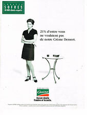 PUBLICITE ADVERTISING 074  1996  MAGASINS CASINO    les cremes dessert