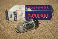 5687 TUNG SOL BLACK PLATE VINTAGE NOS TUBE -  NEW OLD STOCK IN BOX