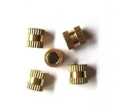 Hot 100pcs Brass Knurl Nuts M3*4mm(L)-4mm(OD) Metric Threaded nuts/ insert round