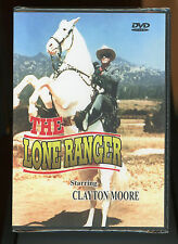 The Lone Ranger Clayton Moore DVD Movie 3 episodes B&W TV series New