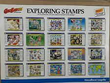 Geosafari Vintage Exploring Stamps Learning Game CARDS ONLY
