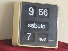 BODET flip clock OROLOGIO A CARTELLINI VINTAGE HIGH QUALITY CON SUPPORTO A MURO