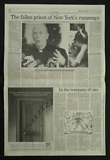 Father Bruce Ritter Fallen Priest New York 1990 Newspaper Photo Article 6084