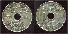 EGYPTE 10  milliemes 1917 H  ( bis )