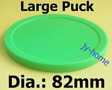FASTER 2pcs 82mm GREEN Air Hockey table Puck Arcade GAME 29g BIG
