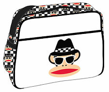 Paul Frank-Blues Brothers cabin/school/college Bolso de Hombro-Blanco/negro