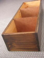 VINTAGE EAMES INDUSTRIAL STYLE  WOODEN STORAGE BOX