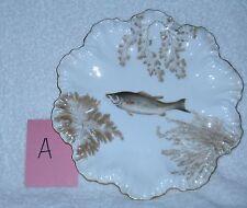 """Tressemann & Vogt T & V Limoges Gold Fish Plate """"A"""""""