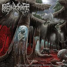 """INCINERATE """"Eradicating Terrestrial Species"""" death metal CD"""
