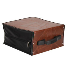 400 Disc CD Holder DVD Case Storage Wallet VCD Organizer Faux Leather Leaves Bag