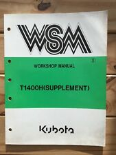 Kubota T1400H (Supplement) Workshop Manual