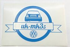 VW Golf MK3 VR6 GTI UKMK3's Rear End Logo Decal Sticker Blue