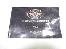 04 Victory Kingpin Owner's Manual Book