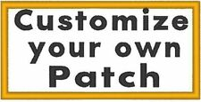 "Custom Embroidered 5"" x 3"" Name Tag Patch With VELCRO® Brand Fastener #55"