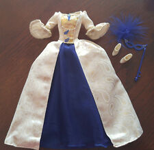 BARBIE GOLDEN BEIGE & BLUE GOWN - 'SECRET OF THE THREE TEARDROPS' - PRETTY