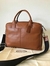 Fossil Men's Saddle Brown Leather Wyatt Work Bag Brief Briefcase MBG9228216 NWT