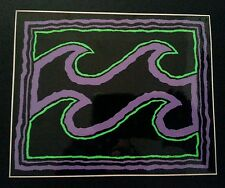 Vintage Billabong Purple Green Black 4.5x5.5 early 90s Surf Skate Sticker Decal