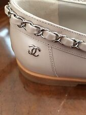 NIB Chanel Chain Loafer Shoes- Beige /Tan IT-39.5