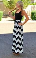 US Women's BOHO Long Maxi Evening Cocktail Party Summer Beach Dress Sundress New