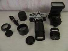 Olympus OM-1 35mm Camera Package w/ Lenses & Access, Tamron 80-210mm, Vivitar