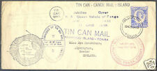 """1938 TONGA """"JUBILEE"""" ERROR TIN CAN MAIL COVER TO EXETER ENGLAND"""