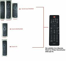 New 3 In 1 Remote Control for Philips TV DVD Hometheater --USA Seller quick ship
