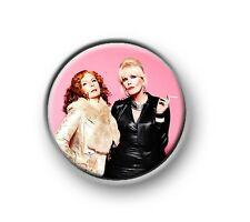 "AB FAB / 1"" / 25mm pin button / badge / funny / British / comedy / TV series"
