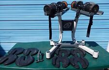 Nautilus Dial a Weight Dumbbells And Stand With 17 Weights Used H5