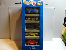 Hot Wheels Ford 5 Car Gift Pack w/ Pink 3-Window '34 w/7 Spoke Wheels