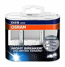 OSRAM D2S XENARC NIGHT BREAKER UNLIMITED Xenon Brenner Duo Box 66240XNB-HCB