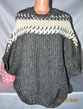 $108 Victorias Secret CHUNKY Cozy Cable Knit SLOUCHY Sweater PONCHO NWT XS / S