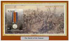 St Vincent & Grenadines 2002 MNH British War Medal World War I Somme 1v S/S