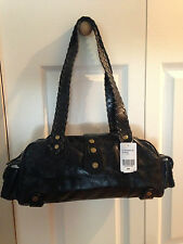 BRAND NEW DANIER BLACK SHOULDER STRAP LEATHER PURSE