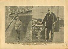 WWI Général Bouyssou Chemin des Dames / Portrait Thomas Edison 1917 ILLUSTRATION