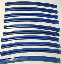 LEGO Train Parts: 3229 currved outside track pieces - pack of 10 - vintage blue
